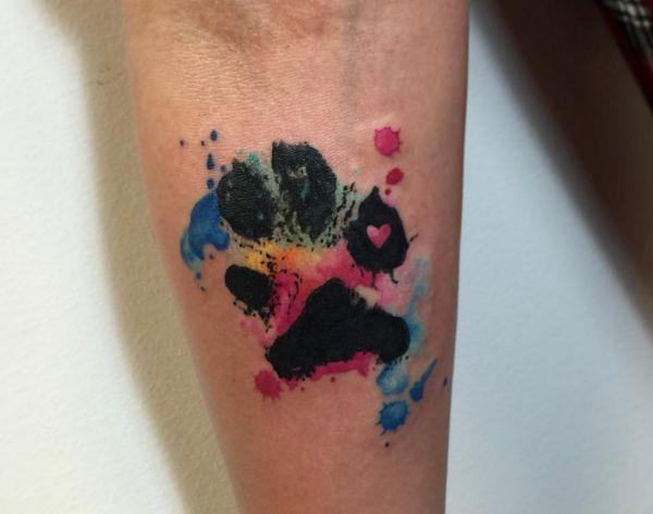 33 Pfoten Tattoo Ideen – Bilder und Bedeutung – Tattoos – Hunde Bilder