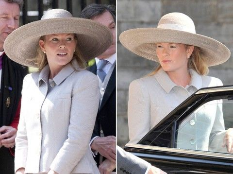 Autumn Phillips - Zara Phillips and Mike Tindall wedding - wedding guest hats - hats - fashion - fashion picutres - royal wedding