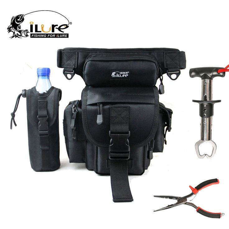 ilure Waterproof Fishing Bags + Fishing Pliers +Fish Grip Combo China Cheap Fishing Tackle Accessories  For Fisherman Bag