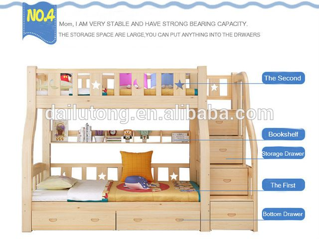 Source kids bunk beds wooden kids bunk bedswith ladder solid wood bunk beds on m.alibaba.com