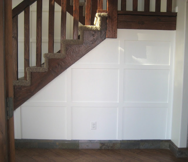A Saltbox Board Amp Batten Stairway Wall Paneling Ideas