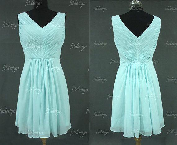Tiffany Blue Bridesmaid Dress Short Bridesmaid By Fitdesign 9200
