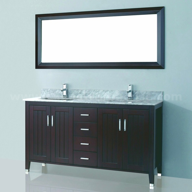JACKIE 60 Double Bathroom Vanity Espresso Finish JACK60VCH By Art Bathe