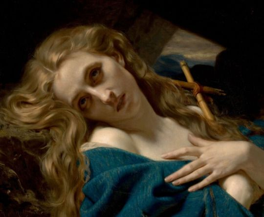 Printemps Sacré - Hugues Merle, Mary Magdalene in the cave, 1868