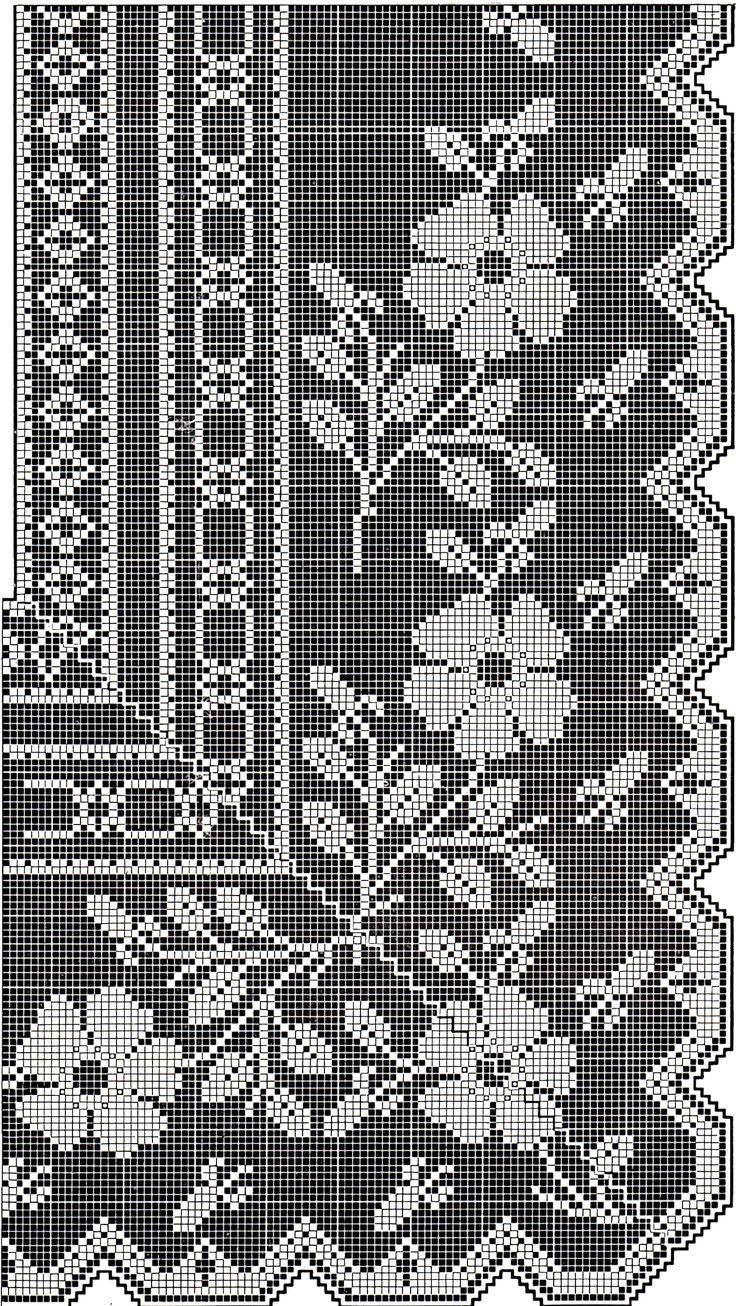 Vintage-Crafts-and-More-Filet-Crochet-Pattern-Flower-Border.jpg 1,554×2,759 pixels
