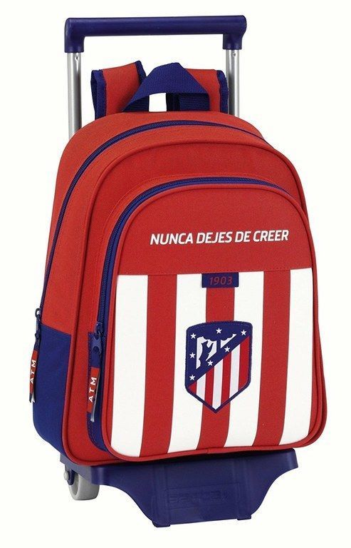 Mochila Carro infantil Oficial Atletico de Madrid , 43 cm