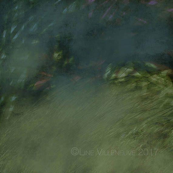 Dessin art abstrait peinture crayon vert bleu rose