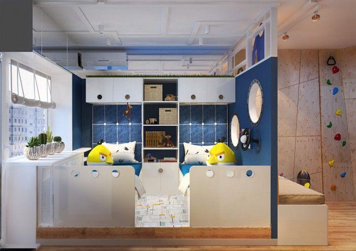 Chambre Pour Enfant Sur Le Theme De L Espace Chambre Enfant