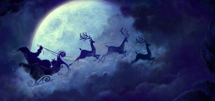 Santa In His Sleigh wallpaper
