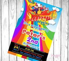 the wiggles invite Wiggles Birthday Party Invitation by Imaggin