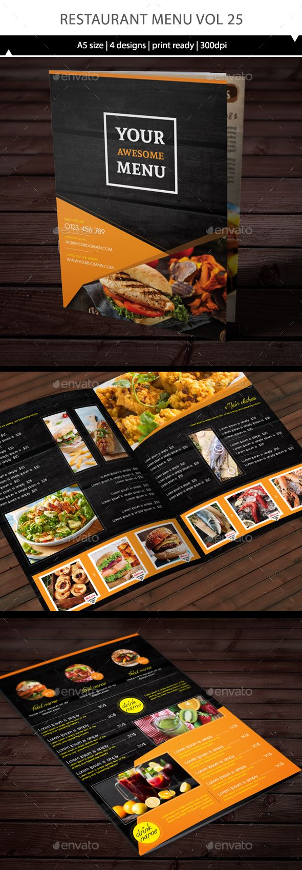 Restaurant Menu Vol 25 u2014 Vector EPS