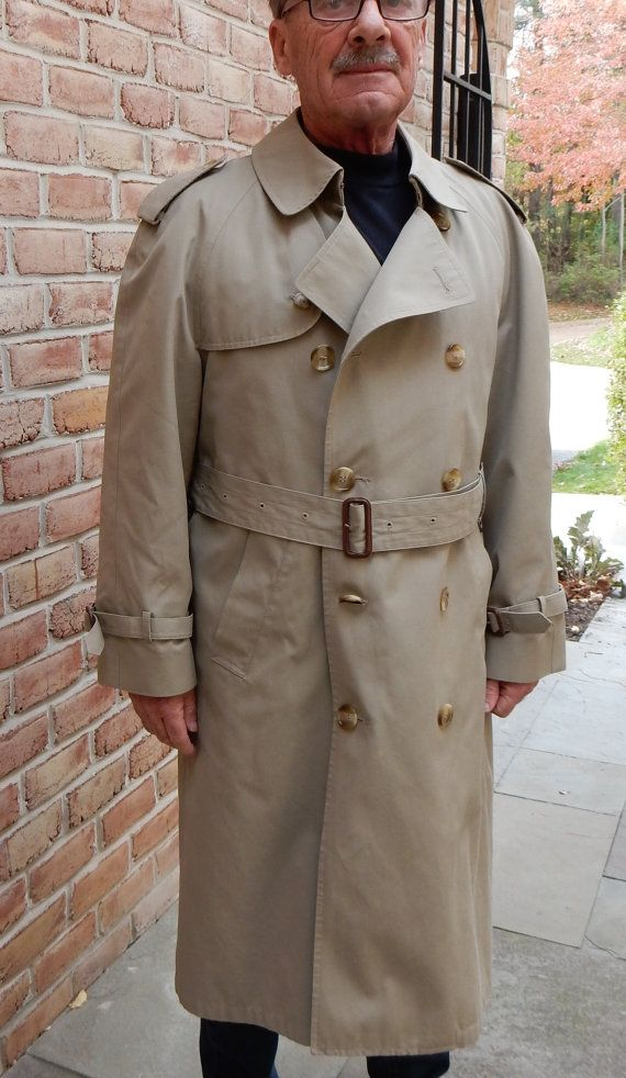 Brooks Brothers Trench Mens Old School Zip by TooArtfulForYou