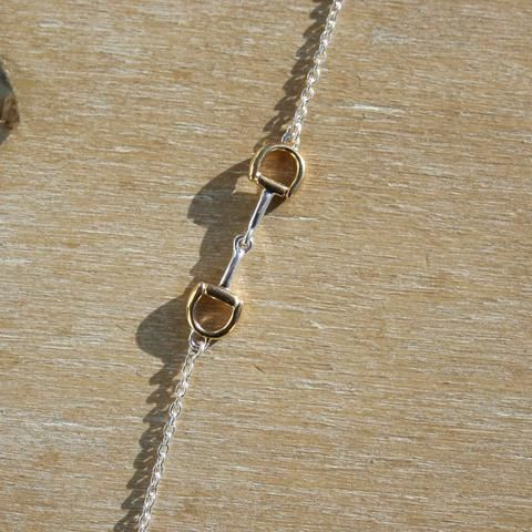 Silver & Gold Snaffle Necklace