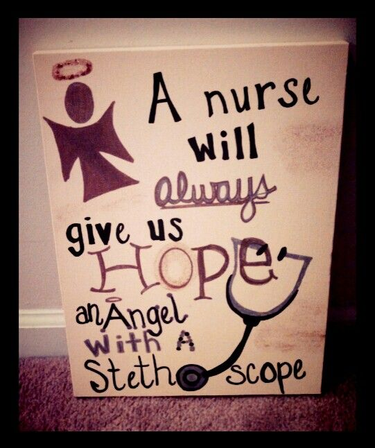 A nurse will always give us ope, an angel with a stethoscope #nursequotes