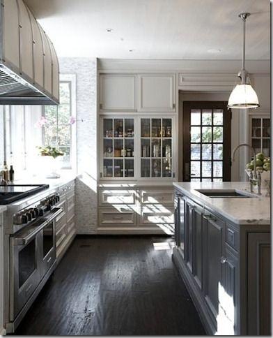 Kitchen #gray #cabinetIdeas, Kitchens Design, Tracery Interiors, Grey Kitchens, Islands, Gray Cabinets, White Cabinets, Kitchens Cabinets, White Kitchens