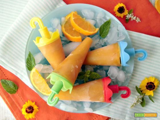 Ghiaccioli all'arancia  #ricette #food #recipes
