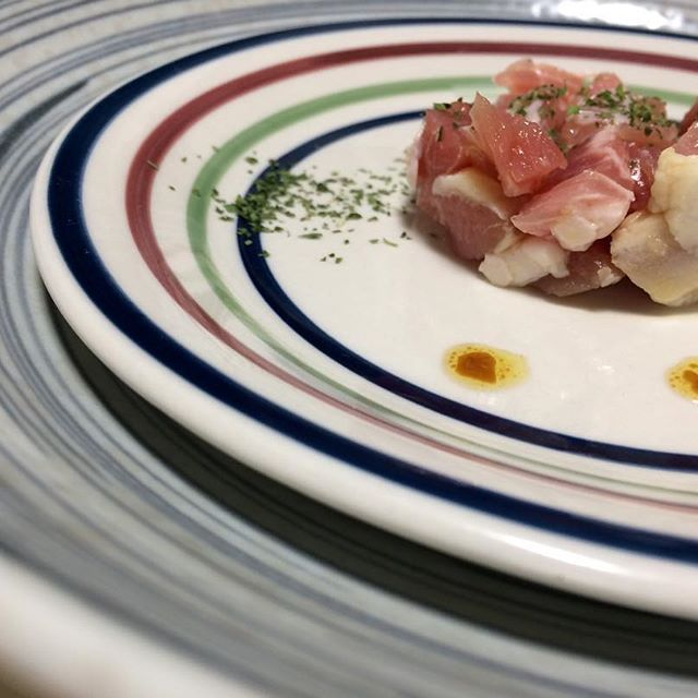 #生パンチェッタ#タルタル#セルクル#オリーブオイル#ハーブ#豚肉#肉#イタリアン#自作#おうちごはん#男料理#rawpancetta#tartare#cercle#oliveoil#herb#pork#meat#italian#homemade#good#instafood#gourmet#delicious#love#mancooking#food#foodie#foodporn#foodgasm