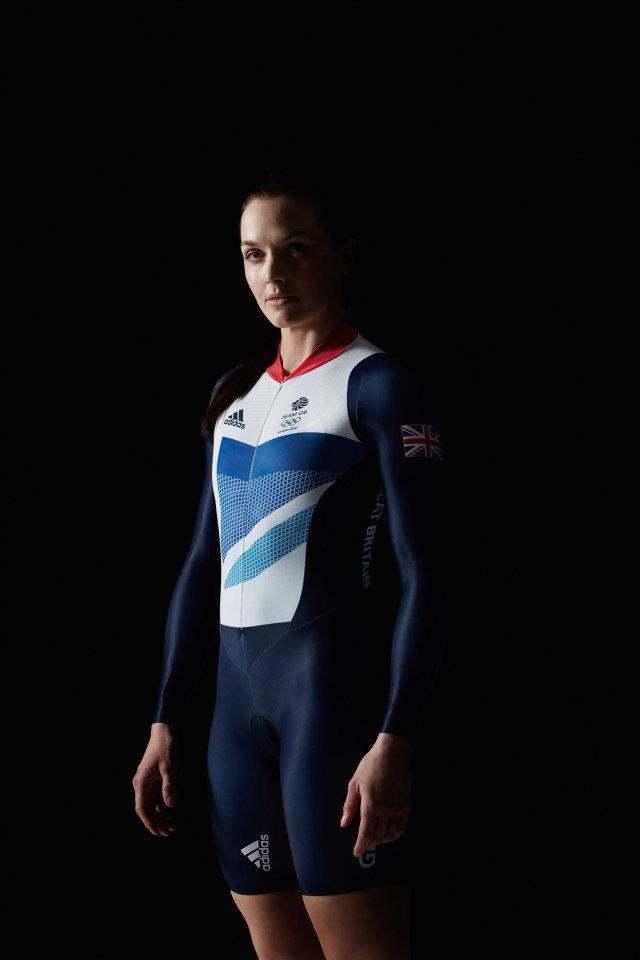 Victoria Pendleton.  Trying on the Team GB adidas cycling kit ©Getty Images