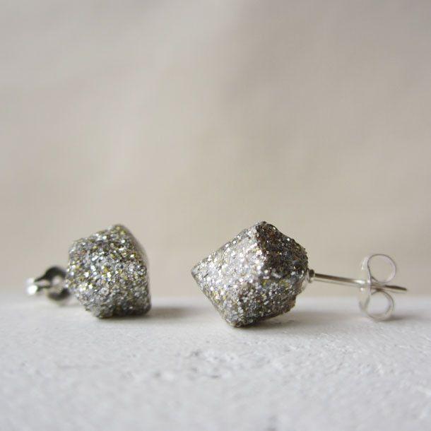 POP glitter rock studs: Glitter Studs, Handmade Glitter, Cork Glitter, Birdandbeau Com, Rocks, Mixed Glitter
