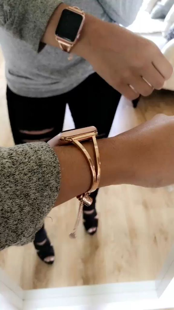 Your Apple Watch just got stylish - shop jewelry cuffs now!
