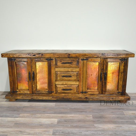 Buffet Table Catalog inspired by Old World style furniture, rustic Mexican furniture & Southwest styles. Rustic buffet tables. Rustic dining set.