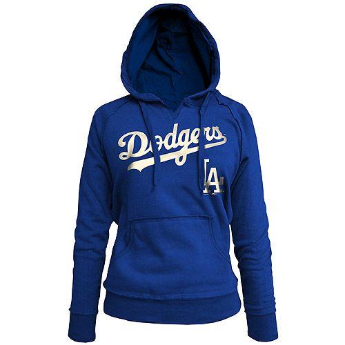 WANT!!! Los Angeles Dodgers Women's Brushed Fleece Pullover Hoody