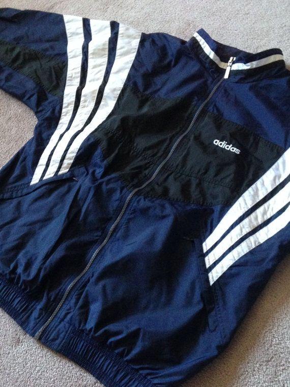 Adidas Size Throwback Deadstock Stuff Large Vintage Jacket Spring USw87dq