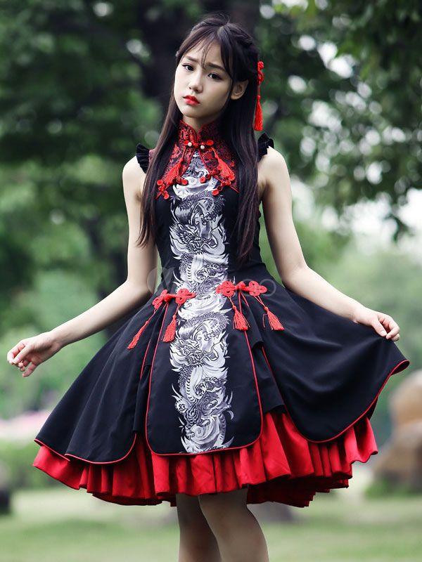 Multicolor Rayon Tassels Lolita One-Piece - Milanoo.com