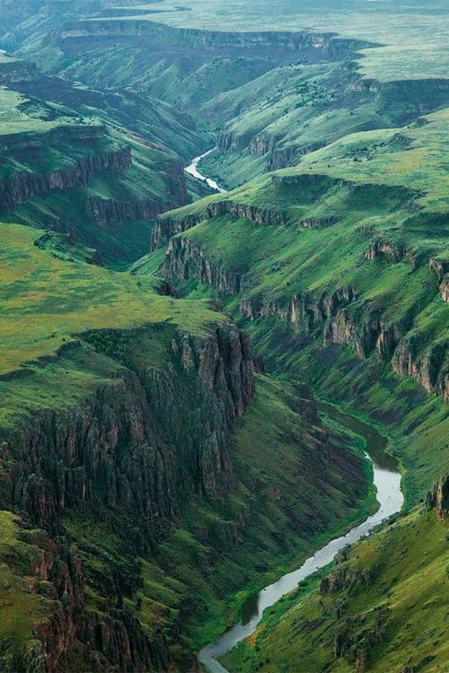 The Owyhee River in Idaho. I love that this little piece of Ireland looking terrain is right here in our very own USA!