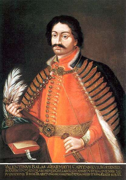 Portrait of Bálint Balassi 17th century. He was an hungarian poet who wrote also in turkish and slovakian among others and founder of the modern Hungarian lyric and erotic poetry.