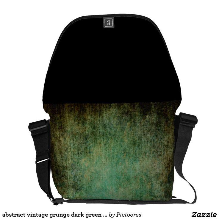 abstract vintage grunge dark green texture commuter bag