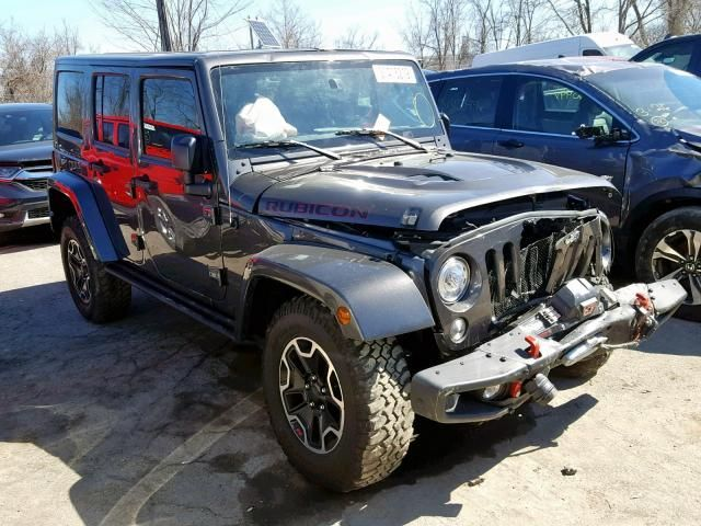Salvage 2017 Jeep Wrangler Unlimited Rubicon Suv For Sale