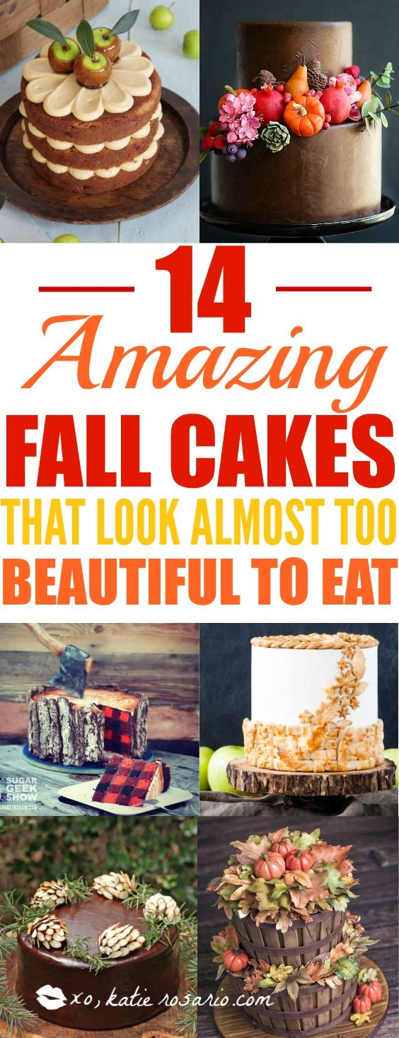Sweater weather is not complete without cake!!! Nothing is more beautiful and comforting than fall cakes! This guide is so so perfect for beginner bakers and newbie cake decorators. Pumpkin spice and apple pie in cakes in amazing! I love the fall rich colors! These cakes look too beautiful to eat but hey I'll be eating them! Definitely pinning for later!