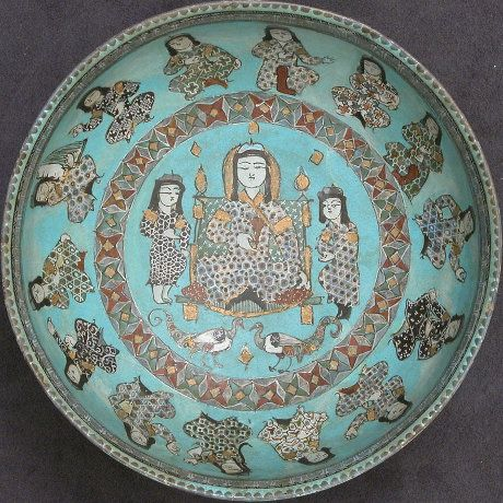 A Saljuq Min�ʾi bowl with a ruler and attendants, 12th-13th centuries