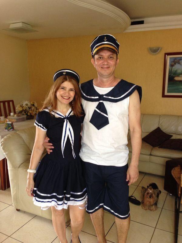 Fantasia de Marinheiro e  marinheira. Casal.