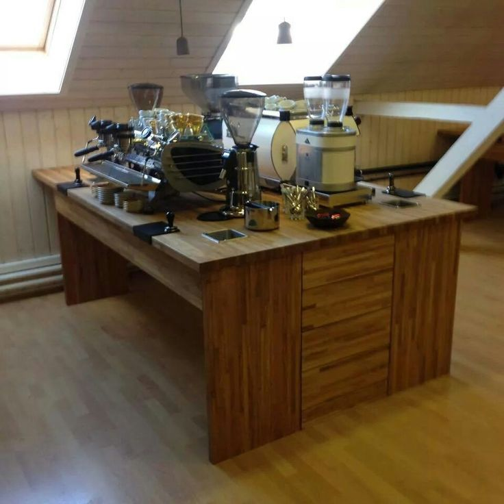 A desk at Taf barista school, Athens, Greece. Everything about espresso!