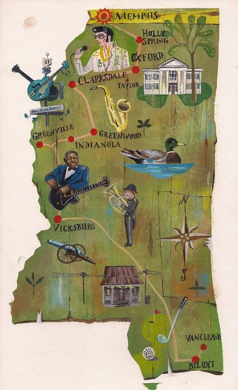 Mississippi Road Trip: Traveling The Blues Road...our fabulous home state!  What's YOUR home state and your favorite things about it?