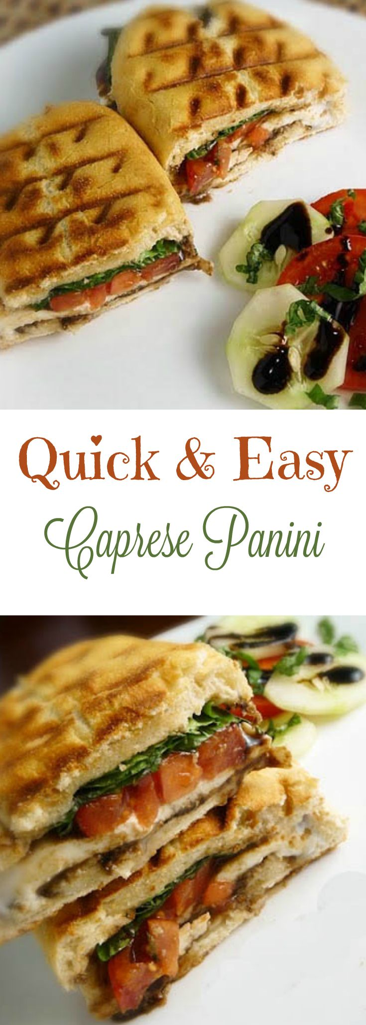 Caprese Panini Sandwich, fresh, delicious and tastes like summer! Stay cool, and just use your panini press!