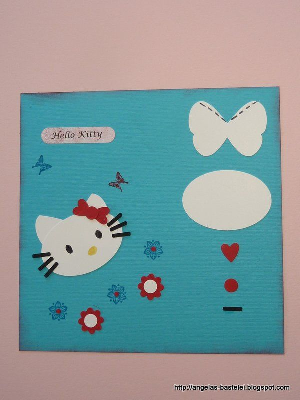 Stampin Up Punch Art hello kitty | Angelas Bastelei: Punch-Art