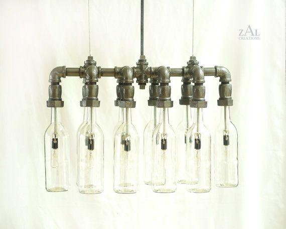 pendelleuchte flaschen am besten bild und edbacbacbdec bottle chandelier light fittings