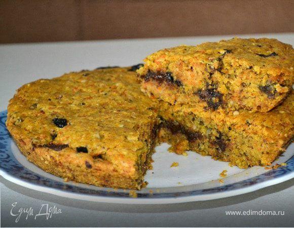 Тыквенный пирог с черносливом и шоколадом. Ингредиенты: сахар, сахар ванильный, растительное масло | Кулинарный сайт Юлии Высоцкой: рецепты с фото