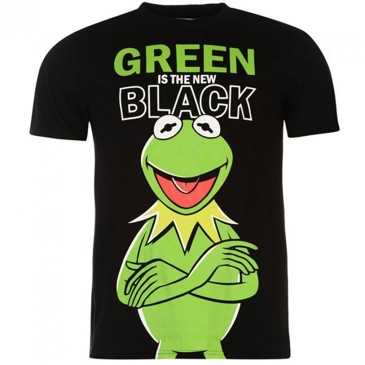 Muppets Kermit Green Is The New Black Officially Licensed Various Sizes T-Shirt GET IT HERE ON THIS LINK http://ebay.eu/1XfyGf5