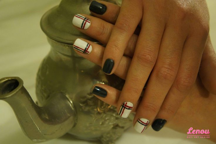 Grey with red stripes