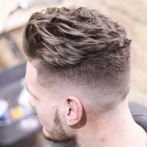 Short on the sides, fade to longer on top