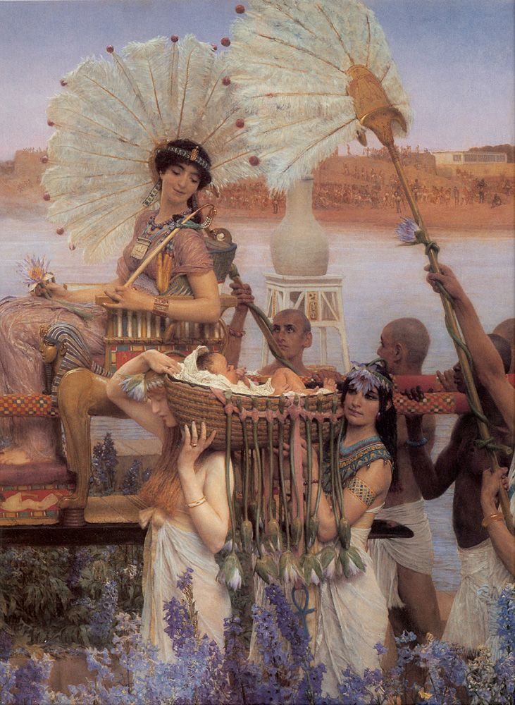Sir Lawrence Alma-Tadema (Sir Lawrence Alma Tadema) (1836-1912)  The Finding of Moses [detail]