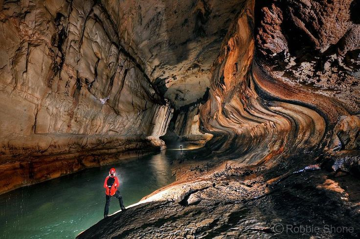 Clearwater cave is believed to be the largest interconnected cave system in the world by volume and the 8th longest cave in the world.  The cave lies on the western margins of Gunung (Mount) Api in Gunung Mulu National Park in Sarawak.