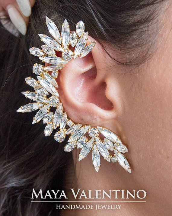d3ddf105e Rose gold ear cuff Bridal ear cuff Amazing ear cuff big ear #prom #cocktail