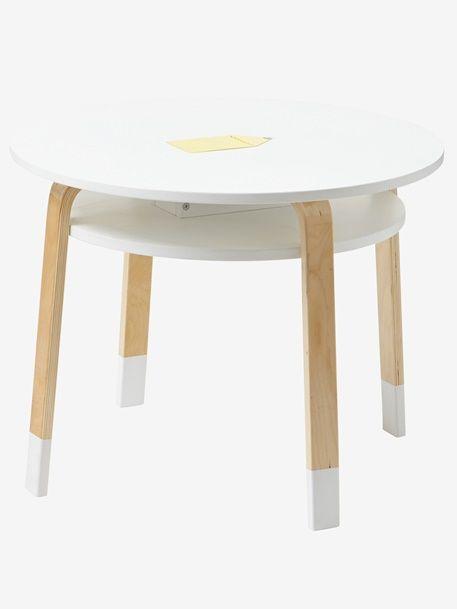 Runder Spieltisch für Kinder - NATUR/WEIß - 3
