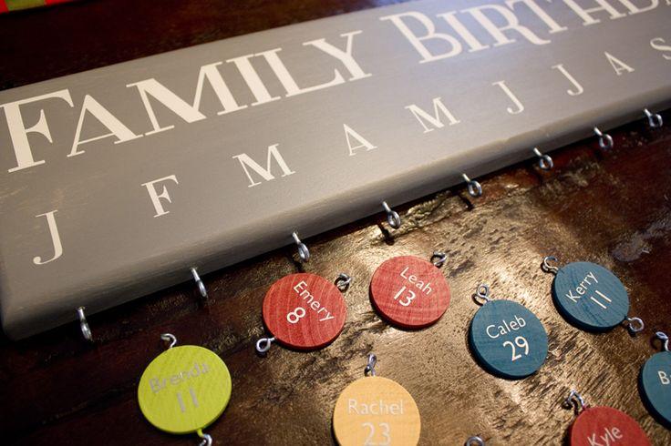 l + k + e: Family Birthdays Sign -- DIY