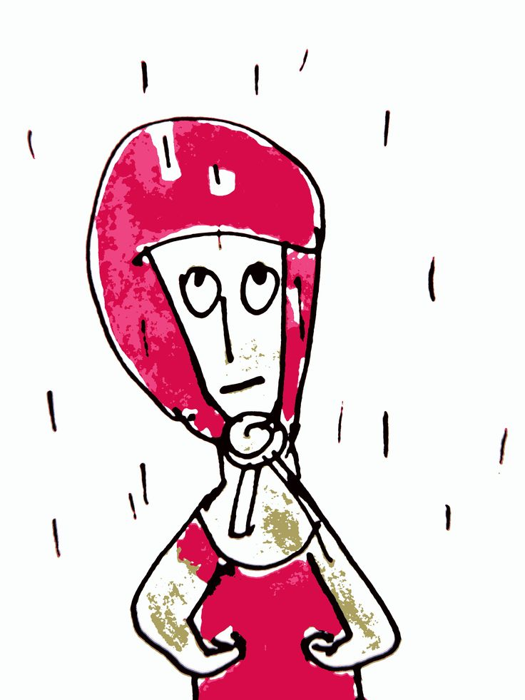 Little red rainy  head, Marjolein scheers